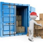 Container cartridge and unload