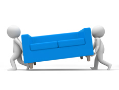 Commercial furniture delivery and installation